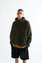 Load image into Gallery viewer, JY FUNNELNECK HOODED SWEATSHIRT - FADED FATIGUE GREEN