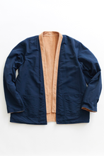 Load image into Gallery viewer, REVERSIBLE SAHASIKA - CAMEL CABLED CORDUROY / NAVY RECYCLED NYLON