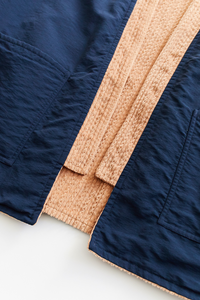REVERSIBLE SAHASIKA - CAMEL CABLED CORDUROY / NAVY RECYCLED NYLON