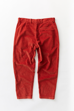Load image into Gallery viewer, SINGLE PLEAT TROUSER - BRICK RED CABLED CORDUROY