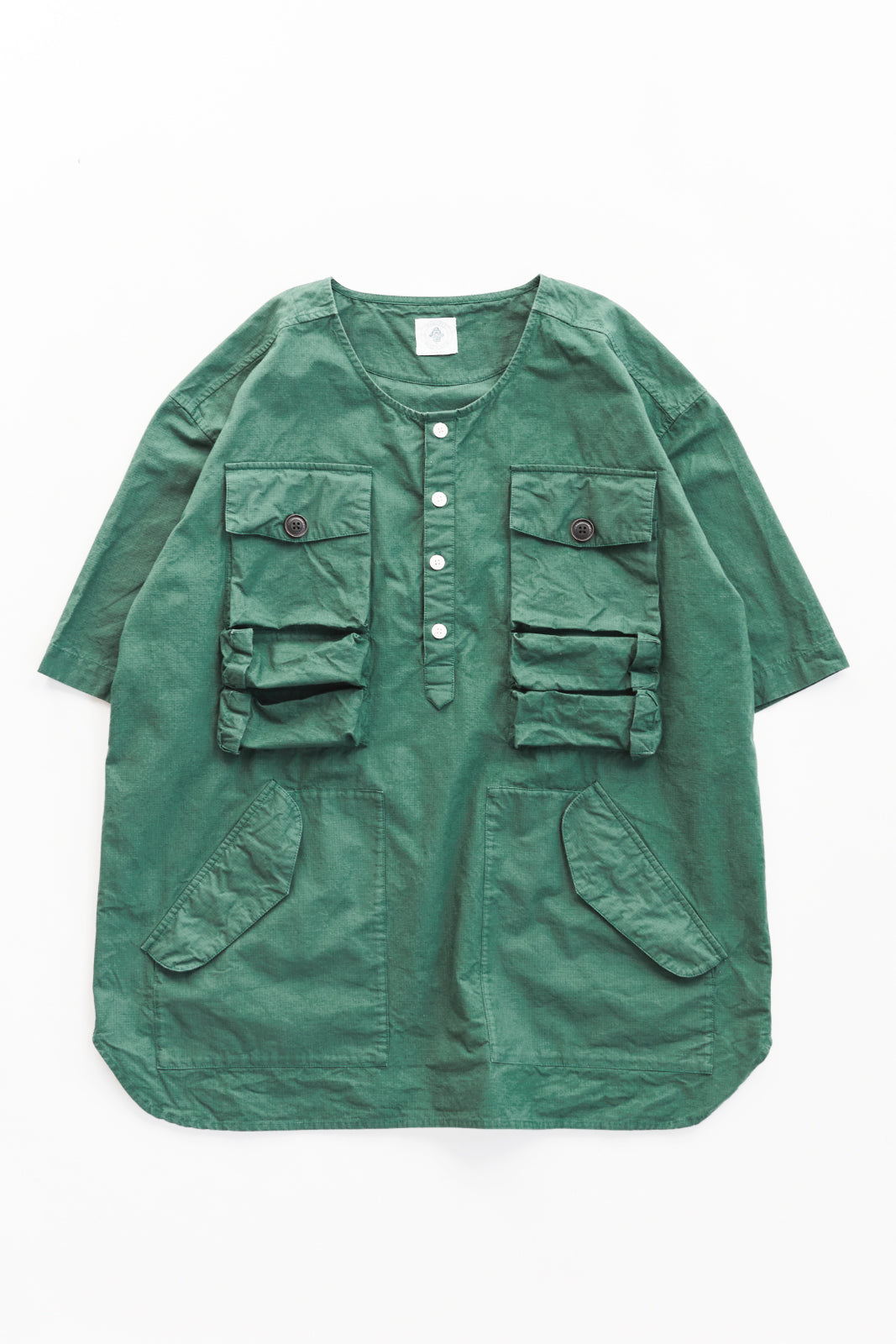 DRISS UTILITY POPOVER - KOSTON GREEN RIPSTOP