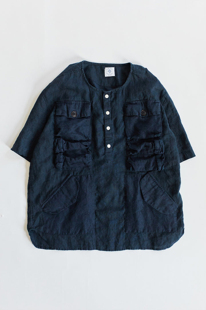 DRISS UTILITY POPOVER - OVERDYED NAVY LINEN