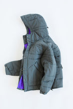 Load image into Gallery viewer, ESSEX QUILTED PARKA - GRAY / PURPLE NYLON TASLAN