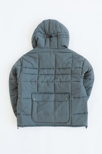 ESSEX QUILTED PARKA - GRAY / PURPLE NYLON TASLAN