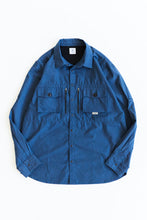 Load image into Gallery viewer, GHIBAIL FISHING SHIRT - NAVY COTTON RIPSTOP