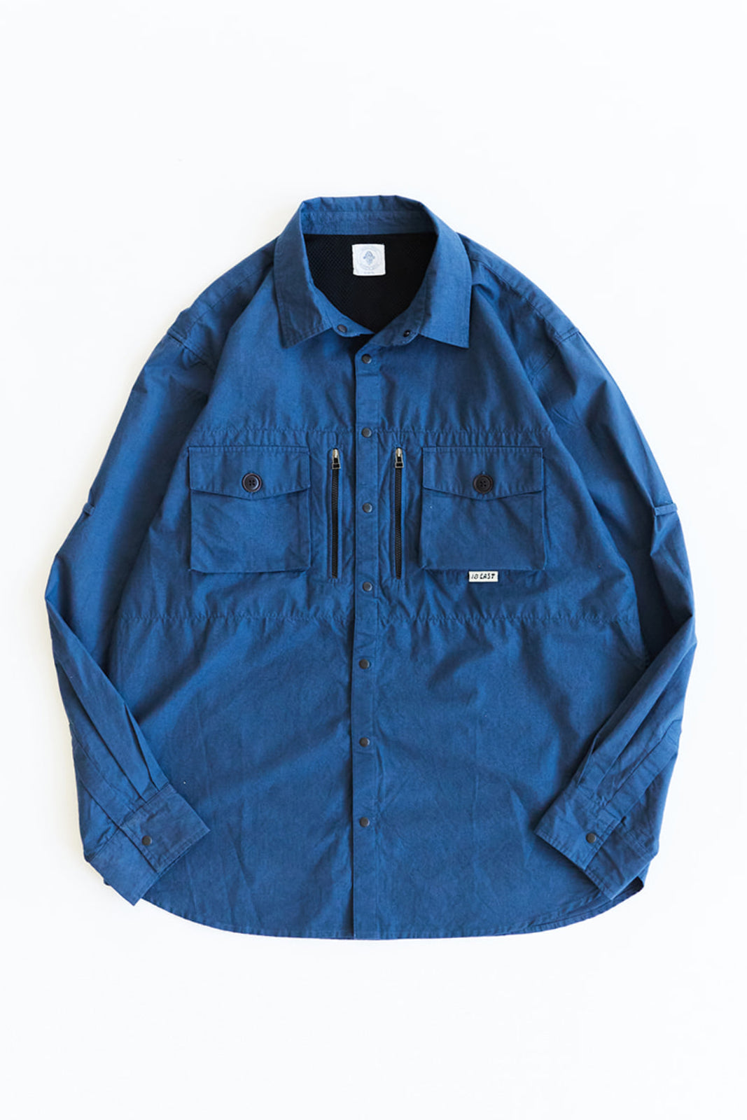 GHIBAIL FISHING SHIRT - NAVY COTTON RIPSTOP