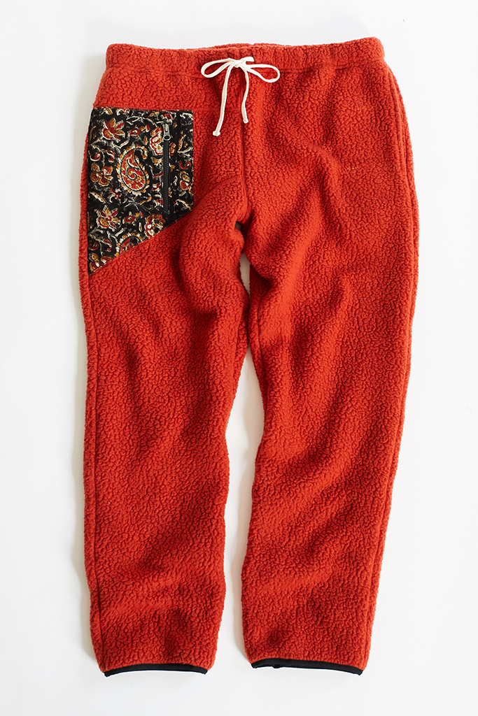 LONG TRAIL FLEECE PANT - RED OCHRE