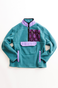 CLOCH HALF ZIP FLEECE PULLOVER — BALSAM BLUE