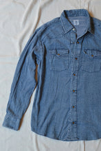 Load image into Gallery viewer, DUNGRI WESTERN  SHIRT - KHADI DENIM
