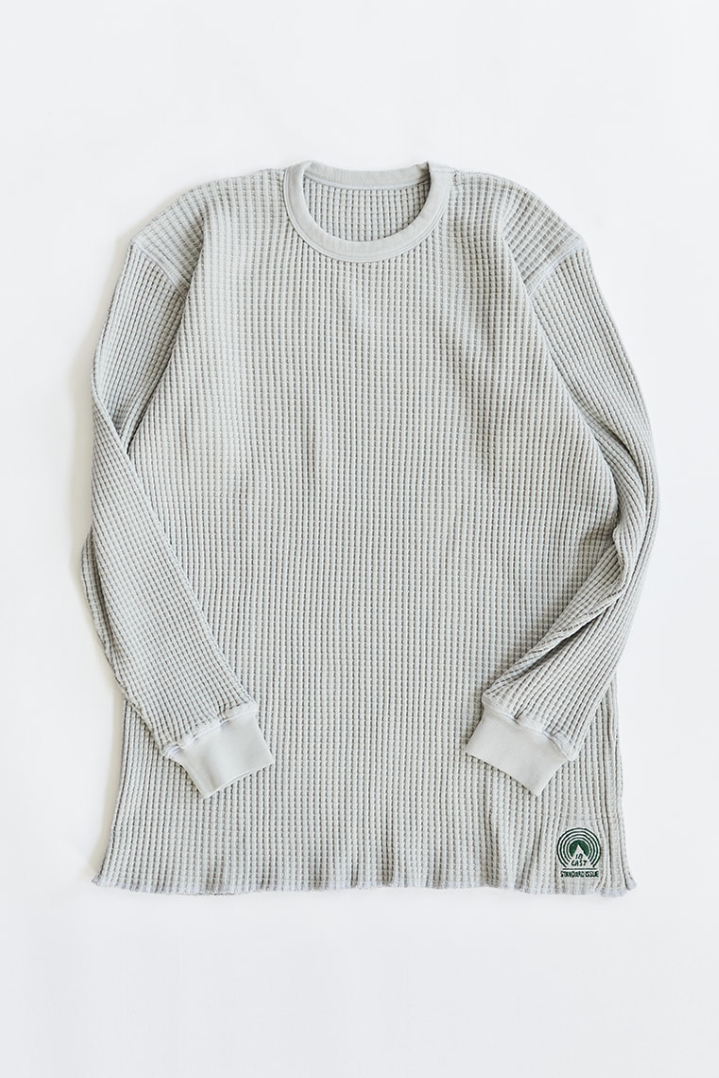 STANDARD ISSUE FOR 18 EAST - FOG GRAY THERMAL CREWNECK