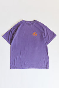 HOME FREE TEE - PURPLE PIGMENT DYED COTTON