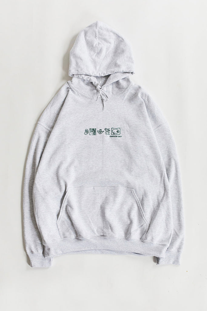 RADIANCE HOODED SWEATSHIRT - ASH GREY HEATHER / SUMMER FOREST GREEN