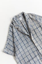 Load image into Gallery viewer, BRENES SHIRT - FOG / INDIGO WINDOWPANE COTTON TWEED