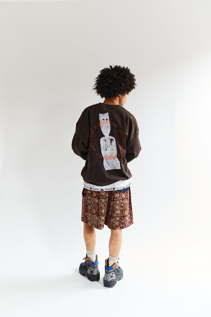 ALLCAPSTUDIO BARA CREWNECK - CHOCOLATE