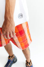 Load image into Gallery viewer, JAIPUR EASY SHORTS - CITRUS HANDLOOM PLAID