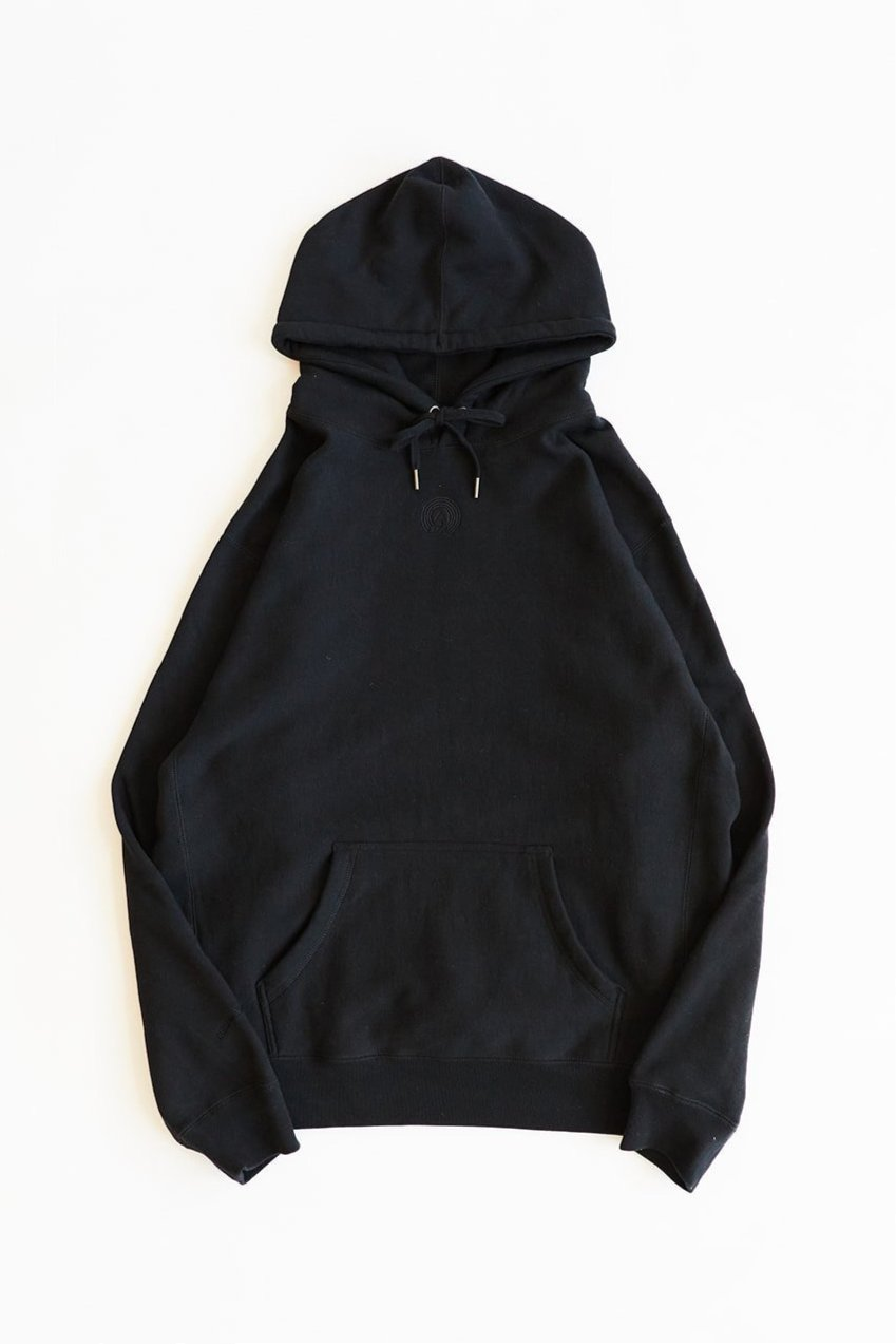 BAGRU MOUNTAIN HOODED SWEATSHIRT - BLACK HEAVY CROSSWEAVE