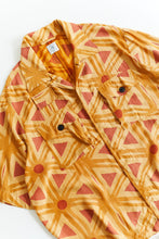 Load image into Gallery viewer, SS CAM SHIRT - CITRUS BLOCK PRINTED CUPRO