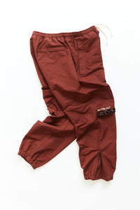 NAM WARM UP PANT - BURNT SIENNA NYLON
