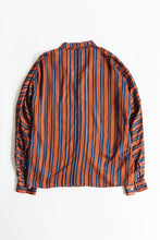 Load image into Gallery viewer, FORIO CAMP SHIRT - BURNT SIENNA BLOCK STRIPE