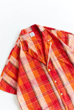 Load image into Gallery viewer, BRENES CAMP SHIRT - CITRUS HANDLOOM PLAID