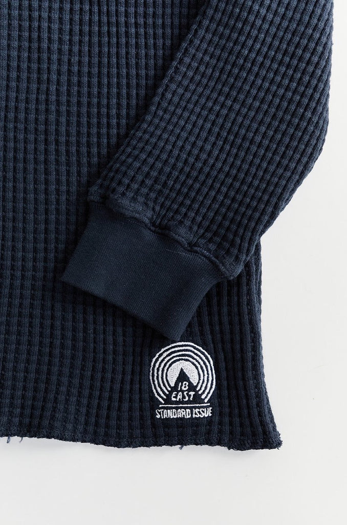 STANDARD ISSUE FOR 18 EAST - MIDNIGHT NAVY THERMAL CREWNECK