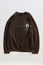 Load image into Gallery viewer, ALLCAPSTUDIO BARA CREWNECK - CHOCOLATE