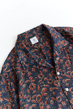 Load image into Gallery viewer, YOUSEF CAMP SHIRT - INDIGO / MADDER BAGRU PRINTED CUPRO
