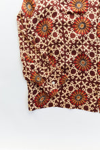 Load image into Gallery viewer, PIONTA CAMP SHIRT - BURGUNDY BLOCK PRINT
