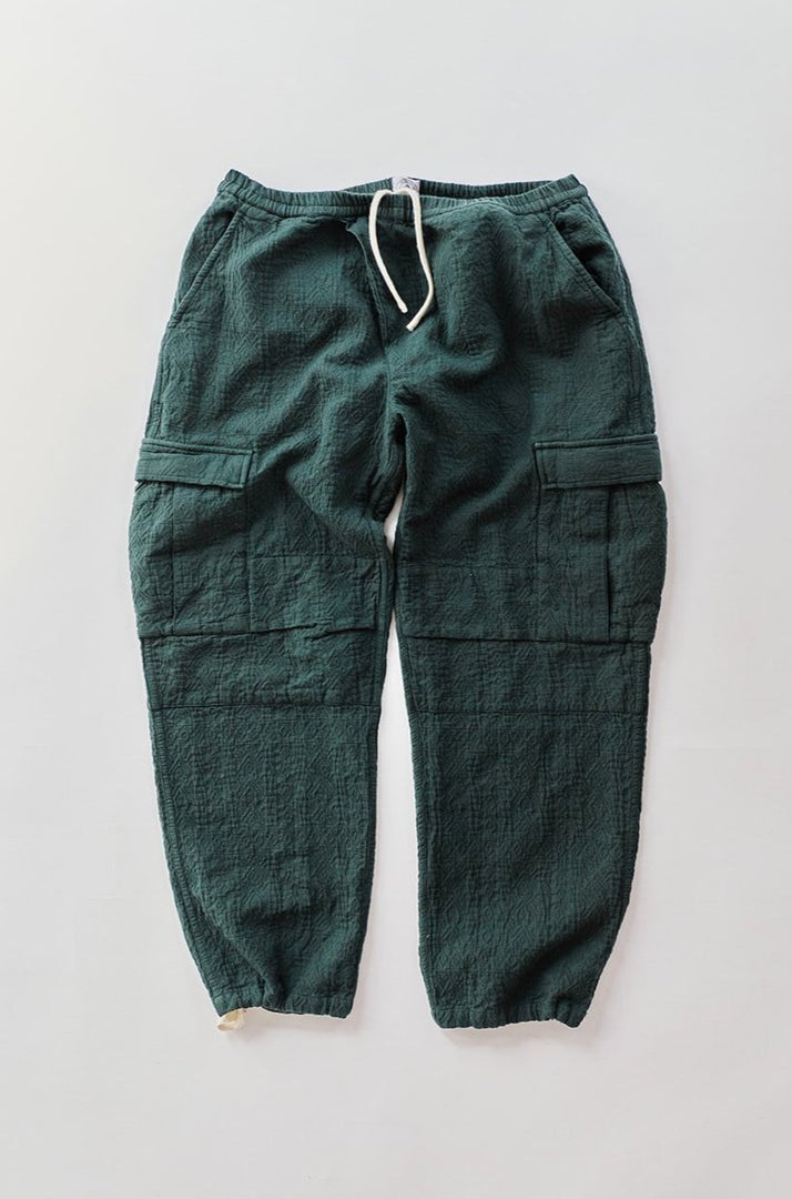 GORECKI CARGO PANT - WORKWEAR GREEN DIAMOND JACQUARD