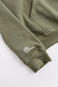 STANDARD ISSUE FOR 18 EAST - DEEP LICHEN GREEN HOODED SWEATSHIRT