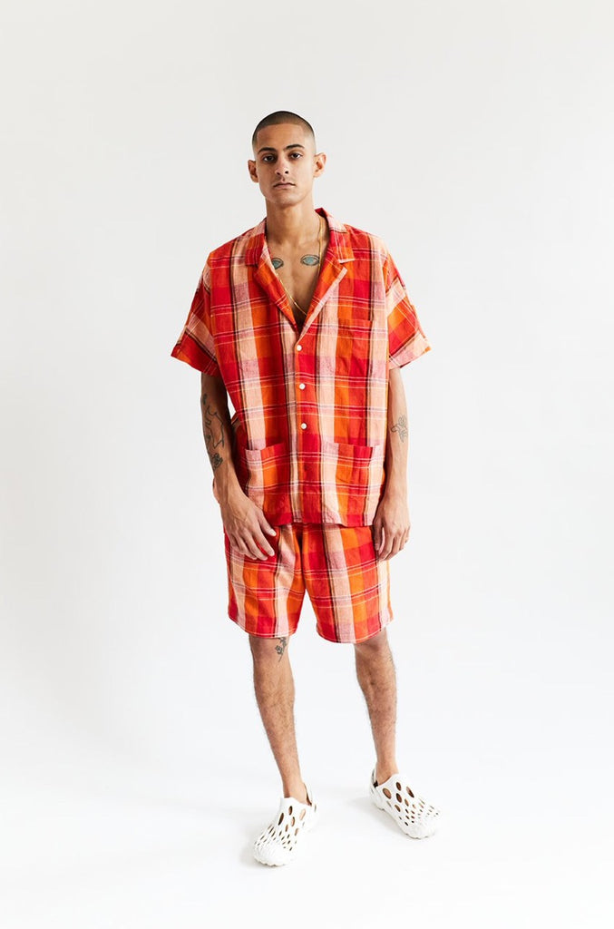 BRENES CAMP SHIRT - CITRUS HANDLOOM PLAID