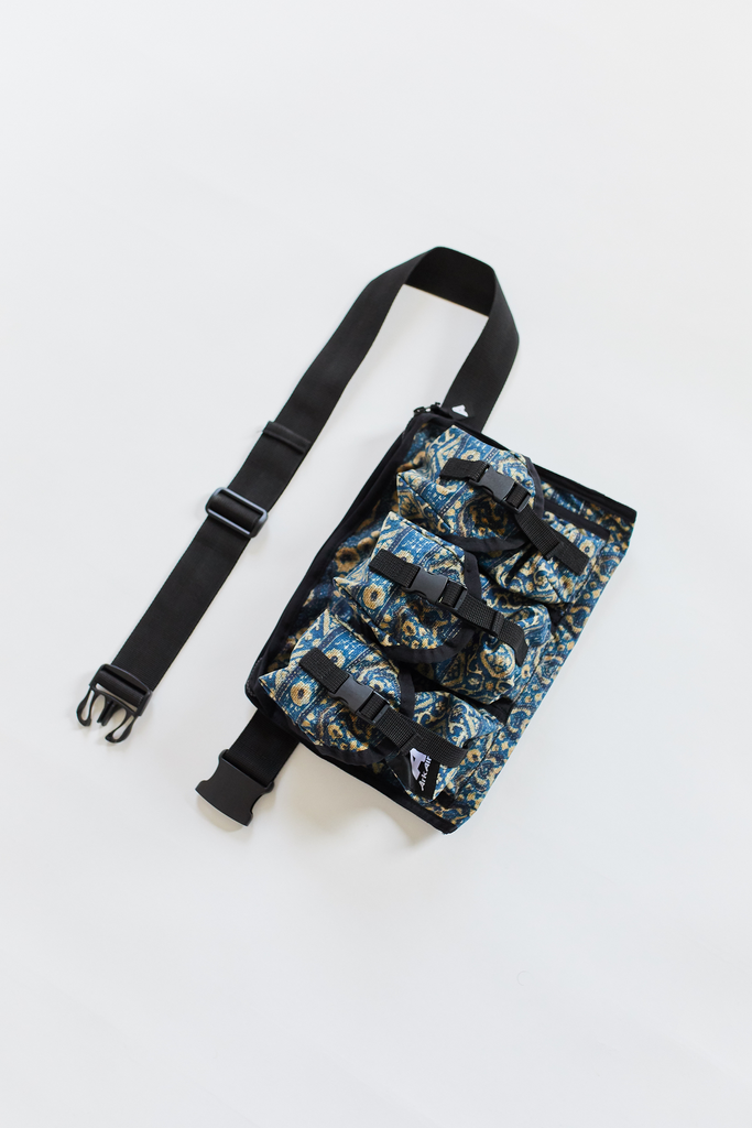 ARKAIR X 18 EAST CHEST RIG - INDIGO ARJAKH PRINTED WATER REPELLENT COTTON