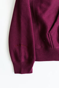 BAGRU MOUNTAIN HOODED SWEATSHIRT - BURGUNDY HEAVY CROSSWEAVE