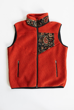 Load image into Gallery viewer, CHARLOTTE FLEECE VEST - RED OCHRE