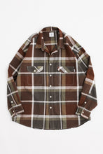 Load image into Gallery viewer, ROOMET WORK SHIRT - ARMY HANDWOVEN MADRAS