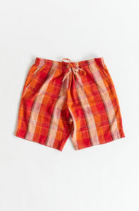 JAIPUR EASY SHORTS - CITRUS HANDLOOM PLAID
