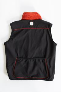 CHARLOTTE FLEECE VEST - RED OCHRE