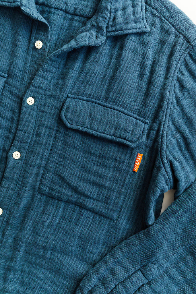 FIELD SHIRT - DUSTY BLUE TRIPLE GAUZE COTTON