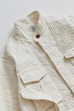 Load image into Gallery viewer, BELTED SAFARI JACKET - UNDYED CORDED COTTON