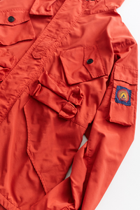 IASCAIRE FISHING PARKA - RED RECYCLED NYLON TASLAN