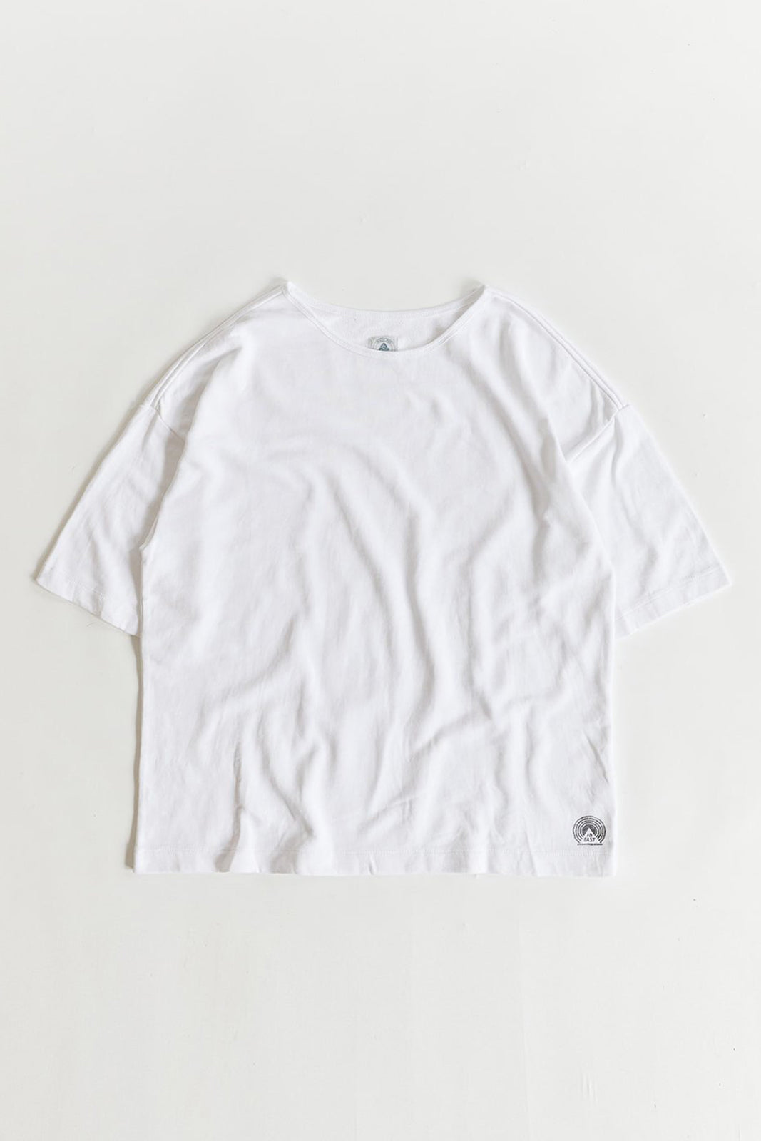 JAMAL OVERSIZED TEE - WHITE LOOPBACK TERRY