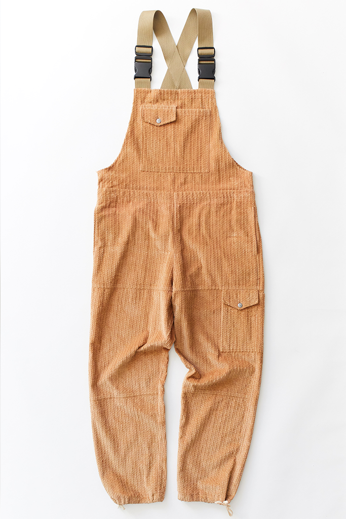 CLÚDACH FISHING WADER OVERALL - CAMEL CABLED CORDUROY