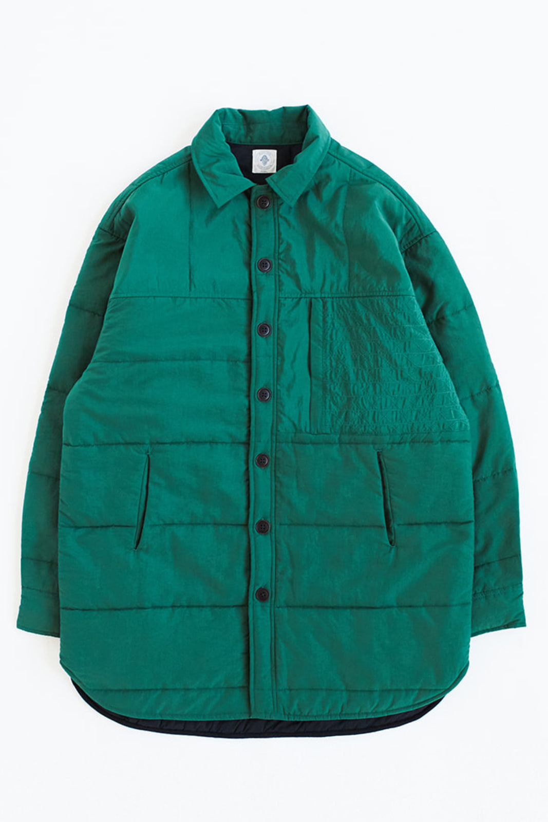 KEATING QUILTED SHIRT JACKET - ZUCCHINI GREEN