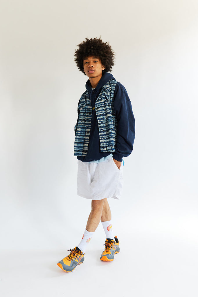 SHELTER CAMP SHORT - WHITE LINEN TWILL