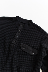 STANDARD ISSUE FOR 18 EAST—BLACK THERMAL MOCK NECK