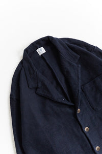 MONTI SHIRT JACKET - NAVY HANDLOOM DIAMONDWEAVE COTTON