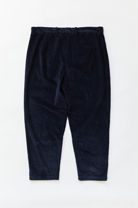 SINGLE PLEAT TROUSER - NAVY CABLED CORDUROY