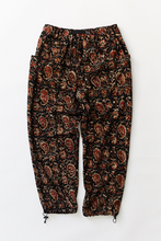 Load image into Gallery viewer, TREK PANT—BLACK BAGRU PRINT CORDUROY