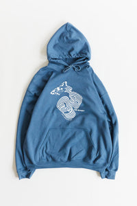 PATHWAYS HOODED SWEATSHIRT - INDIGO BLUE