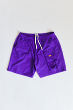 Load image into Gallery viewer, HANCOCK NYLON SHORTS - PURPLE NYLON